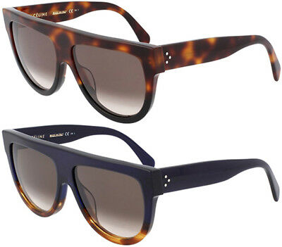 Celine Shadow Women's Flat-Top Shield Acetate Sunglasses Made In Italy CL41026S