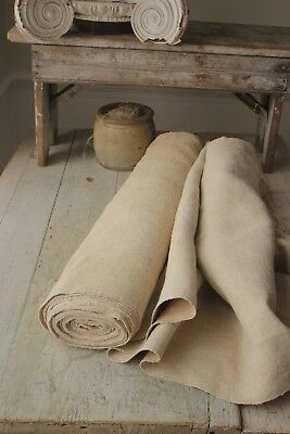 Antique hemp material WASHED 10YDS  25.5 WIDE upholstery fabric linen