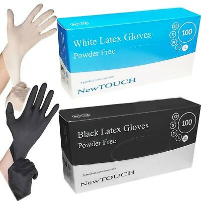 Extra Strong White Latex and Black Latex Gloves Powder Free Multi purpose Use