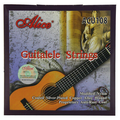 Alice Guitalele String Set 6 Strings Nylon & Silver Plated Alloy Wound Strings