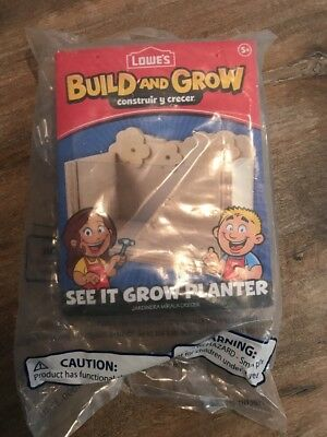 🦄🍎Lowes Build and Grow See It Grow Planter-NEW in package