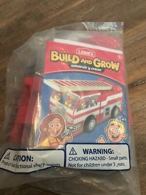 🦄🍎Lowes Build and Grow Fire Truck Kit  NEW in package- Build and Play