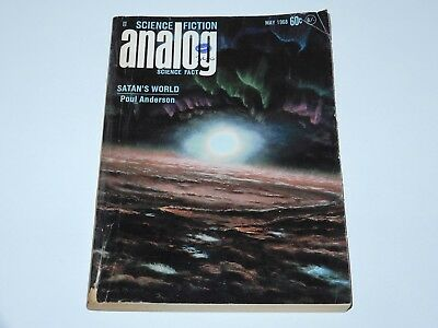 Analog Science Fiction May 1968 Satan's World Poul Anderson Sf
