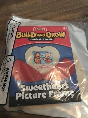 🍎🦄Lowes Build and Grow Sweetheart Picture Frame-NEW in package