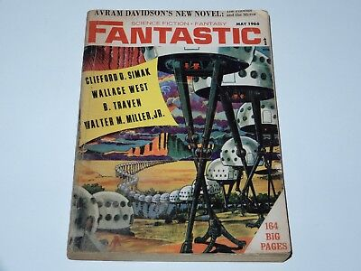 Fantastic Science Fiction Fantasy May 1966 Simak West Traven Miller Sf