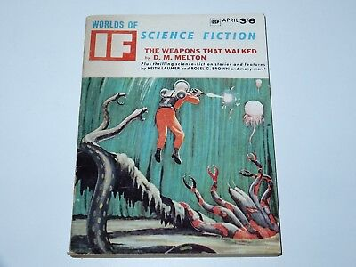 If Worlds Of Science Fiction 1966 April 3/6 Gsp Weapons That Walked The World Sf