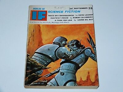 If Worlds Of Science Fiction 1966 September 3/6 Gsp Laumer Silverberg Del Ray Sf