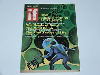 If Worlds Of Science Fiction 1969 October Mac Laumer Herbert Ley Sf