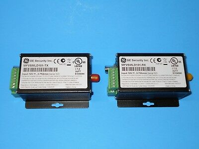 GE MFVSMLD101-TX Fiber Video/Data Transmitter & MFVSMLD101-RX Receiver