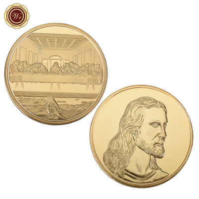 WR Jesus Christ / The Last Supper Gold Challenge Coin Collectible Christmas Gift