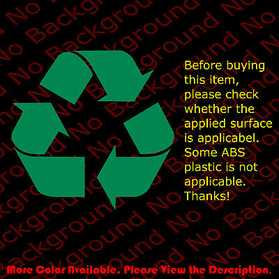 RECYCLE Recycling Recyle Bin Vinyl Die Cut Decal Sticker No Background BS006
