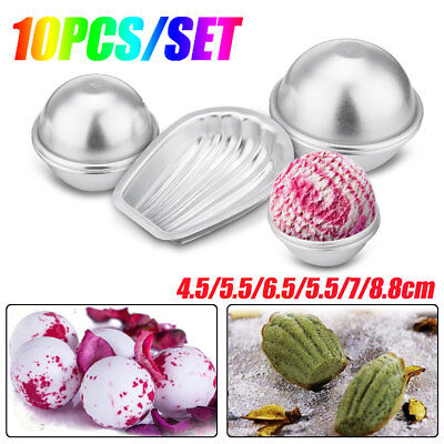 10Pcs Sphere Shell Metal Bath Bomb Molds Mould Fizzy Homemade Crafting DIY【AU】