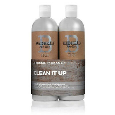 BED HEAD by TIGI for Men Clean Up Tween Duo Daily Shampoo&Conditioner - 2x750 ml