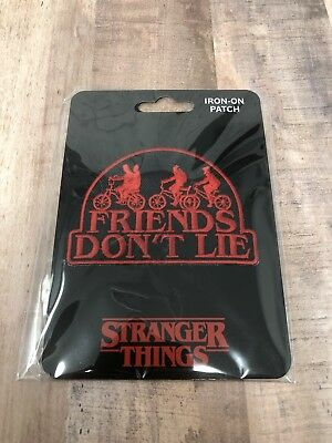 Stranger Things Friends Don't Lie Patch Hawkins Netflix NEW Iron On