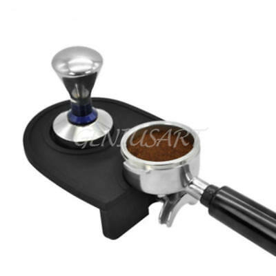 Coffee Tamper w/ Silicone Mat Holder Tamping For Espresso Machine Grind  Safe