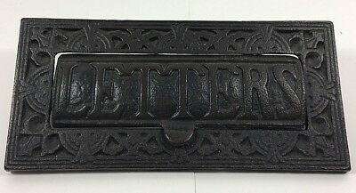 """Cast Iron Metal Mail Box Delivery Slot 9 1/2"""" x 4 1/2"""" Letters Flap"""