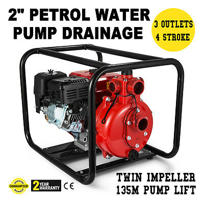 7.5HP 2 Trash Gas High Pressure Water Transfer Pump 3 Outlet inlet NPT 4 Stroke