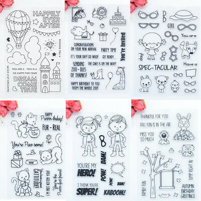 NEW Transparent Silicone Clear Rubber Stamp Cling Diary Scrapbooking DIY Craft