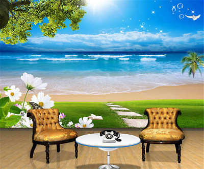 Mutual Concise Sea 3D Full Wall Mural Photo Wallpaper Printing Home Kids Decor