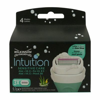 3 Wilkinson Sword Intuition Sensitive Care Rasierklingen Aloe + ProVitamin B5 OV
