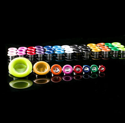 50x Coloured Eyelet with Washer Leather Craft Repair Grommet 4/4.5/5/6/8/10mm