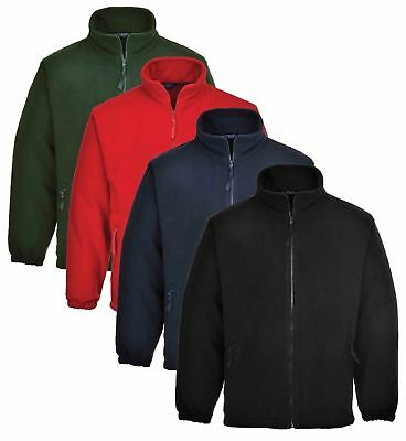 Portwest Argyll Heavy Fleece Jacket Thermal Insulated Zip Jumper Anti Pill F400