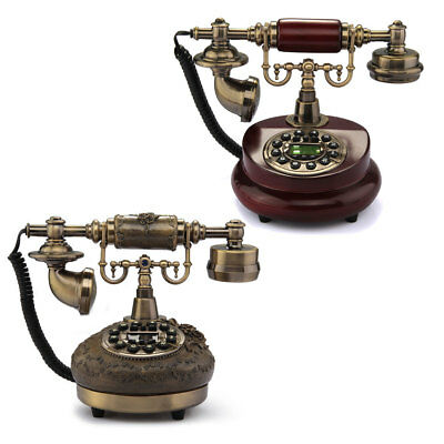 Retro Vintage Antique Style Desk Telephone Living Room Brass Classical Home Chic