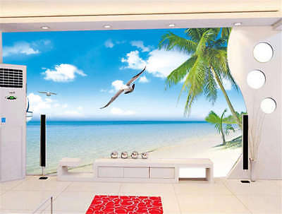 Endless Concise Sea 3D Full Wall Mural Photo Wallpaper Printing Home Kids Decor