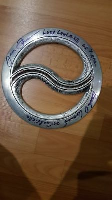 Xena Ying Yang Chakram Metal Original autographed by Lucy Lawless