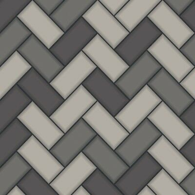Wallpaper Holden Chevron Tile Glitter 3D Geometric Kitchen Bathroom Grey 89302