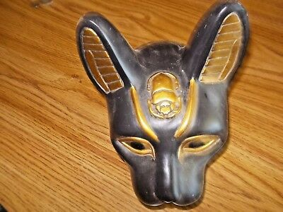 Large bust  head of the ancient Egyptian cat goddess  2001  signed