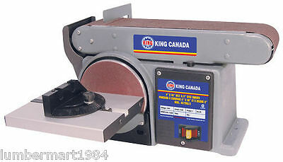 """King Canada Tools KC-705L-6 COMBINATION 4""""X36"""" BELT AND 6"""" DISC SANDER Ponceuse"""
