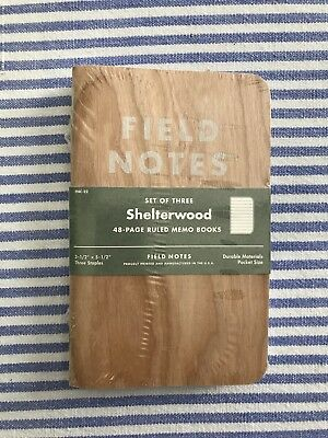 Field Notes Shelterwood Limited Edition FNC-22 sealed 3-pack - New