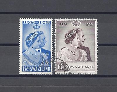 SWAZILAND 1948 SG 46/7 RSW USED Cat £46