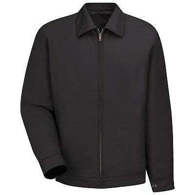 Red Kap Mens Slash Work Jacket - Black