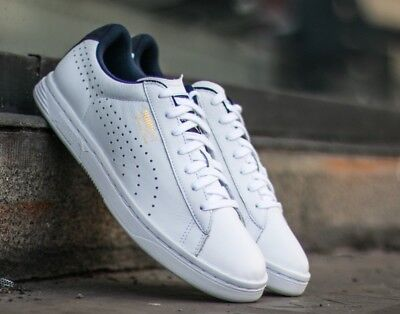 Mens Puma Court Star CRFTD White Peacoat Casual Lace Up Leather Trainers
