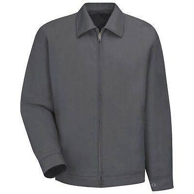 Red Kap Mens Slash Work Jacket - Charcoal