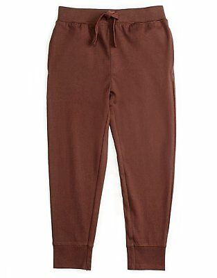 Leveret Boys Girls Cotton Brown Legging Pants with Drawstrings (Size 2-14 Years)
