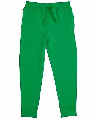 Leveret Boys Girls Cotton Green Legging Pants with Drawstrings (Size 2-14 Years)