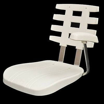 Pompanette P10 Helm Seat Shell With Ladder Back White