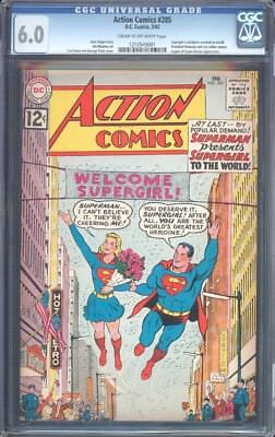Action Comics (1938) #285 Cgc 6.0 Fn Cow Supergirl Revealed To World (1241)