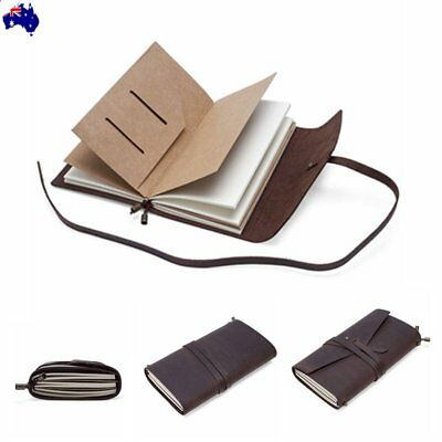 Journal Diary Leather Notebook Handmade Leather Travel Sketchbook Pocket Cover