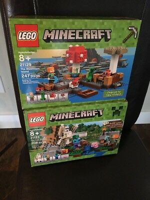 LOT OF 3 Lego Minecraft The Nether 21106 The Village 21105 Micro ...