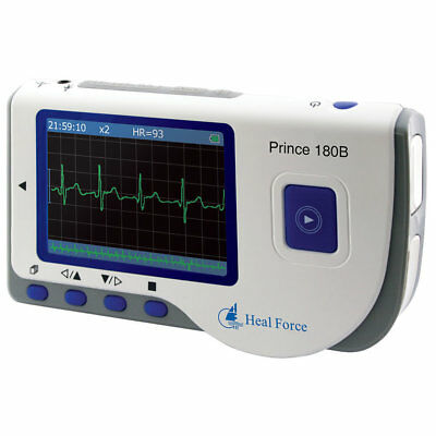 Heal Force Prince 180B Easy ECG Monitor Handheld Portable Heart Rate Monitor