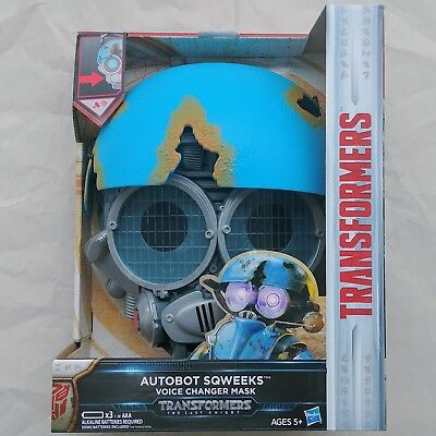 New AUTOBOT SQWEEKS Voice Changer Mask Transformers The Last Knight 2017