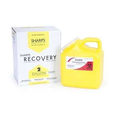 Sharps Compliance Inc. 2 Gallon Sharps Recovery System with USPS Approved Mailba