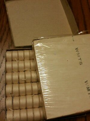 Star pre wound bobbins by American Thread. 1 gross. Natural. Style G.