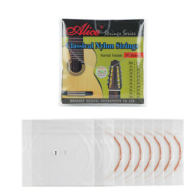 Normal Tension 10-String Classical Guitar Strings Set Nylon & Copper Alloy Wound