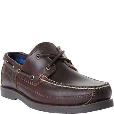 500343635c MENS TIMBERLAND PIPER Cove 2-Eye Boat Shoe Dark Brown Leather A19ZR ...