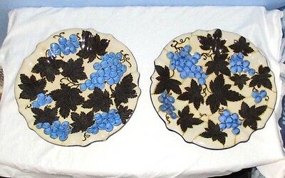 8 Italy MAJOLICA Soft Paste Pottery DINNER PLATES Albisola Capo
